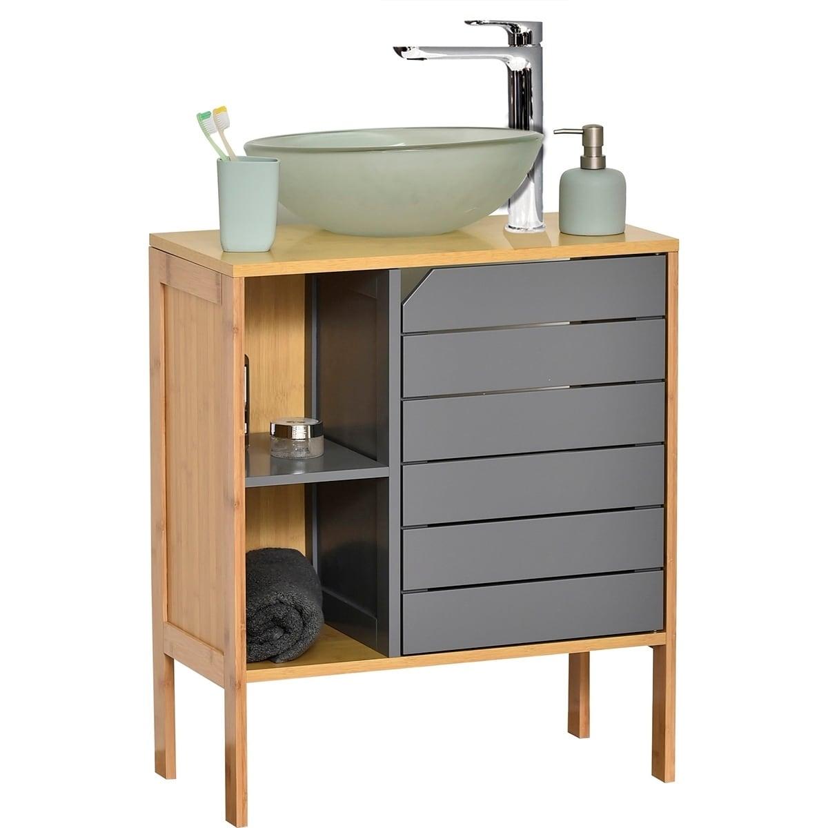 Non Pedestal Under Sink Storage