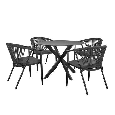 CosmoLiving by Cosmopolitan Circi Collection 5 Piece Outdoor Dining Set