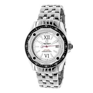 Centorum Falcon 1/2ct TDW White Diamond Watch Metal Band plus Extra Leather Straps