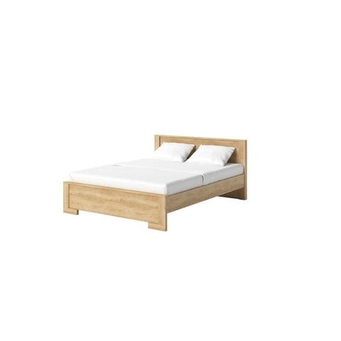 LASKA Platform Bed with mattress 62.9 x 78.7 inch
