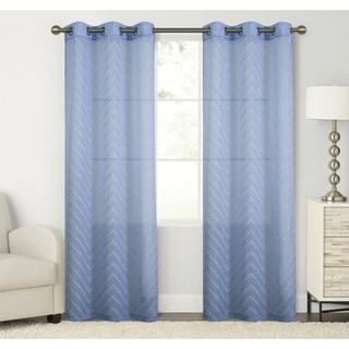 Luxury Home Manor Panel Pair,76X84 76 x 84 Blue