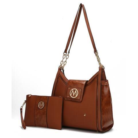 Dana Hobo Bag with Wristlet Pouch by Mia K.