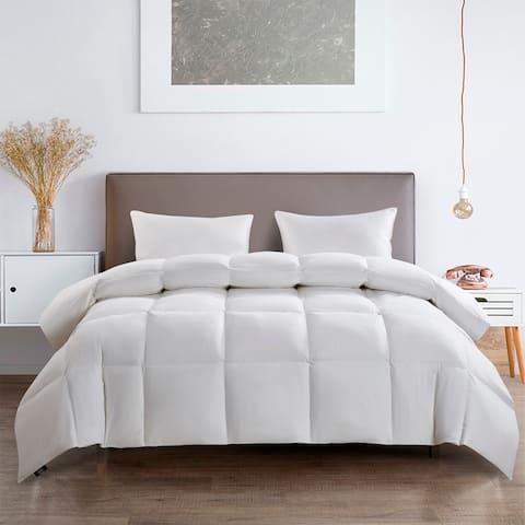 Serta 233 Thread Count White Goose Feather and White Goose Down Fiber Comforter
