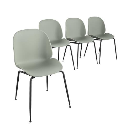 CosmoLiving by Cosmopolitan Aria Collection Indoor/Outdoor Resin Dining Chair (4-Pack)