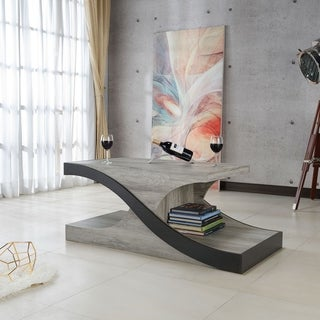 Furniture of America Villetta Modern Vintage Grey Coffee Table