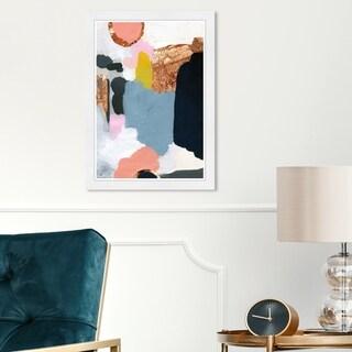 Wynwood Studio 'Copper City' Abstract Framed Wall Art Print Paint - Blue, Blue - 13 x 19