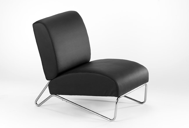 Easy Rider Black Vinyl Chair