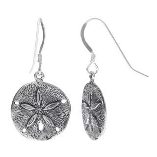 Journee Sterling Silver Dangling Sand Dollar Earring