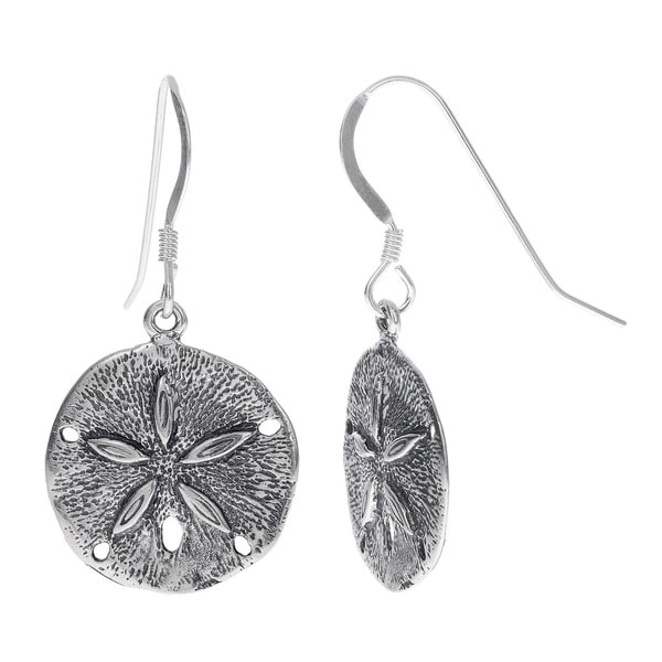 Journee Sterling Silver Dangling Sand Dollar Earring