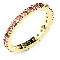 Simon Frank 14k Gold Overlay Pink Lavender Stackable CZ Eternity Band