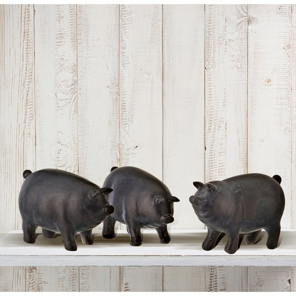 "Resin Pigs 3"" 3 Piece Set"