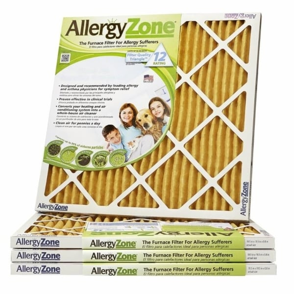 """Allergy Zone 1"""" Furnace Air Filter (4-pack). Opens flyout."""
