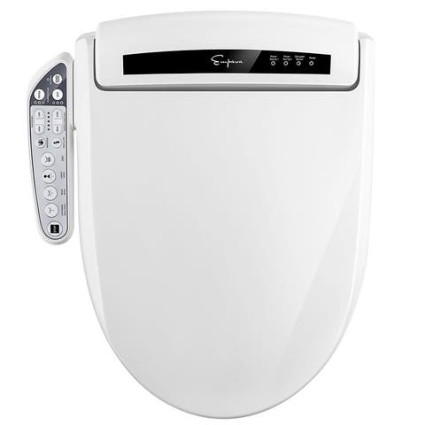 Advanced Smart Electric Bidet Seats for Elongated Toilets in White