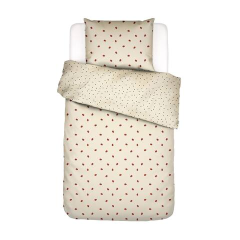 Covers & Co 144TC Cotton Soft Yellow Dbl-Full Lady Bug Duvet Cover 3pc Set