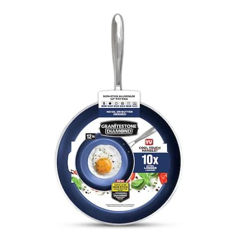 Granitestone Blue Non Stick 12' Fry Pan, PFOA Free