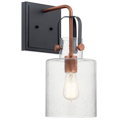 Kichler Lighting Kitner 16.5-in 1-Light Wall Sconce Antique Copper