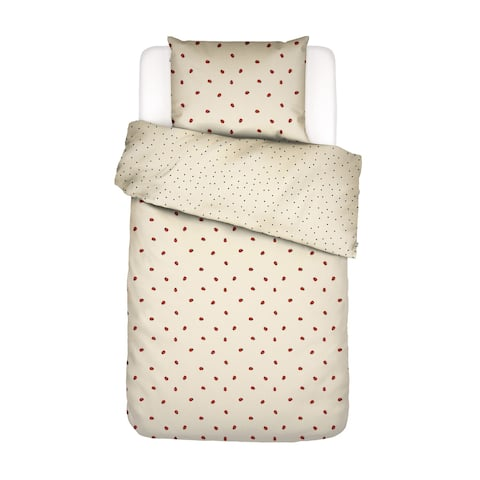 Covers & Co 144TC Cotton Soft Yellow Twin Lady Bug Duvet Cover 3pc Set