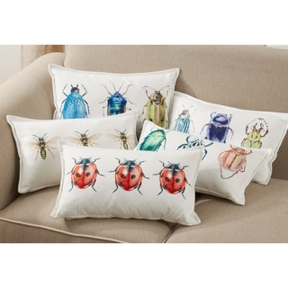 Throw Pillow With Bugs Design