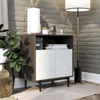 CosmoLiving by Cosmopolitan Olivia Grey Storage Cabinet