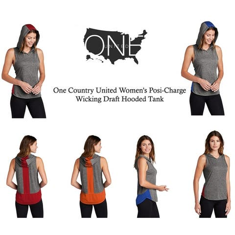 One Country United Women's Wicking Draft Hooded Tank