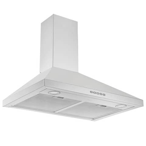 Ancona 30 in. Convertible Wall-Mounted Pyramid Range Hood in Stainless Steel