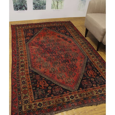 "Noori Rug Semi Antique Kerim Rust/Gold Rug - 5'0"" x 7'8"""