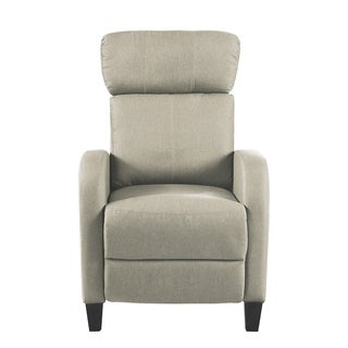 Plush Small Space Manual Recliner Chair with High Density Foam