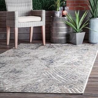 nuLOOM Sundaze Raised Abstract Stripes Indoor/Outdoor Area Rug