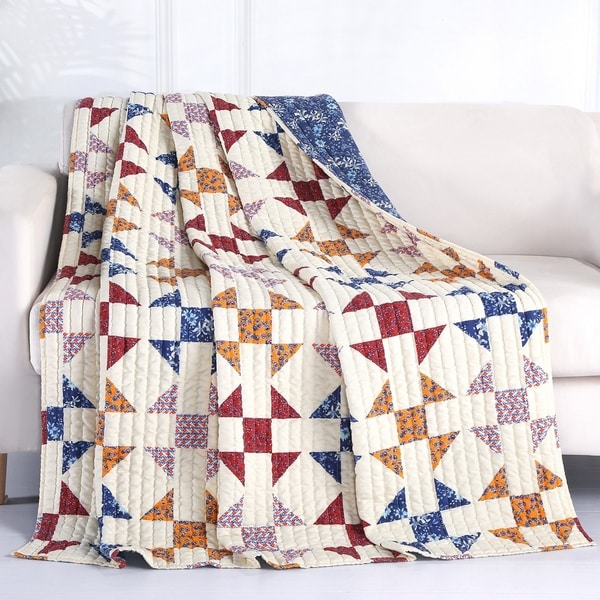 Porch & Den Koll Parkway Geometric Pattern Throw Blanket. Opens flyout.