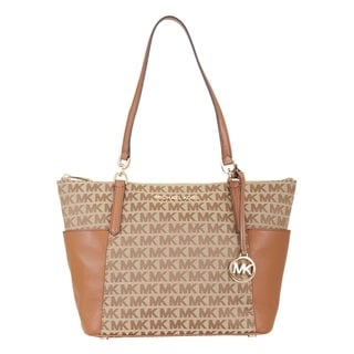 Link to Michael Kors Women's Bedford Large Eastwest Top Zip Tote, Beige Similar Items in Shop By Style