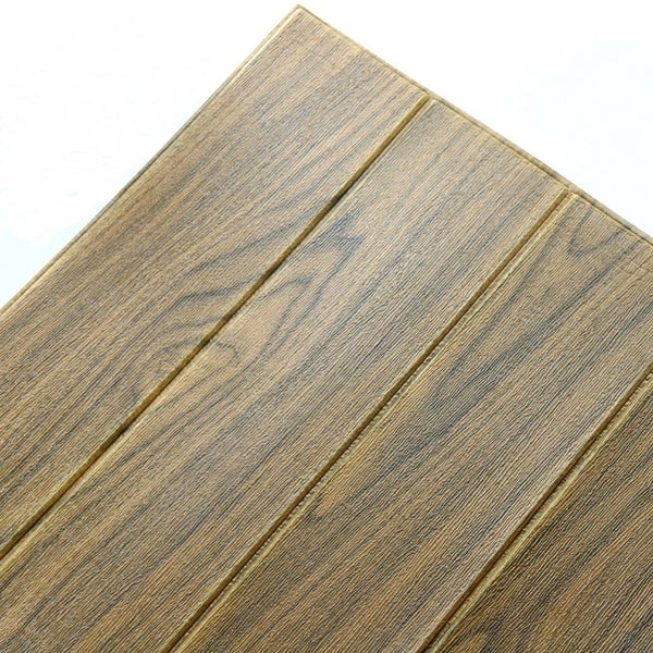 New Wood Grain Wall Sticker, Perfect For Wall Decal (Brown_10pc)