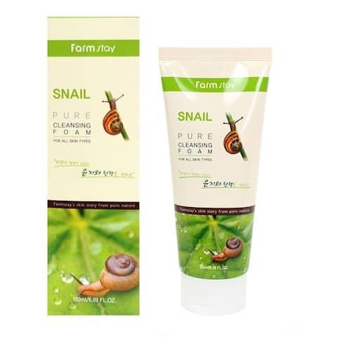 Farmstay Snail Pure Cleansing Foam, 180ml - 180ml