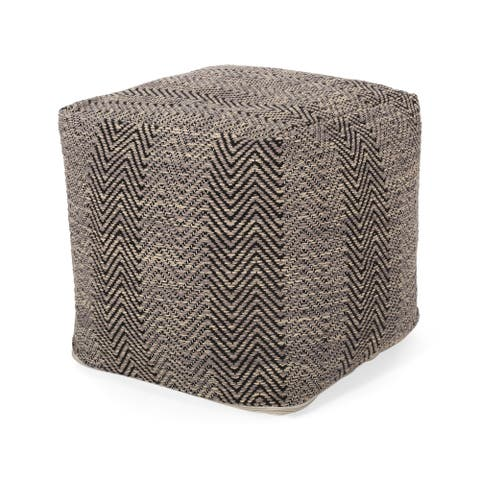 Bowmont Hand-Crafted Cotton Cube Pouf by Christopher Knight Home
