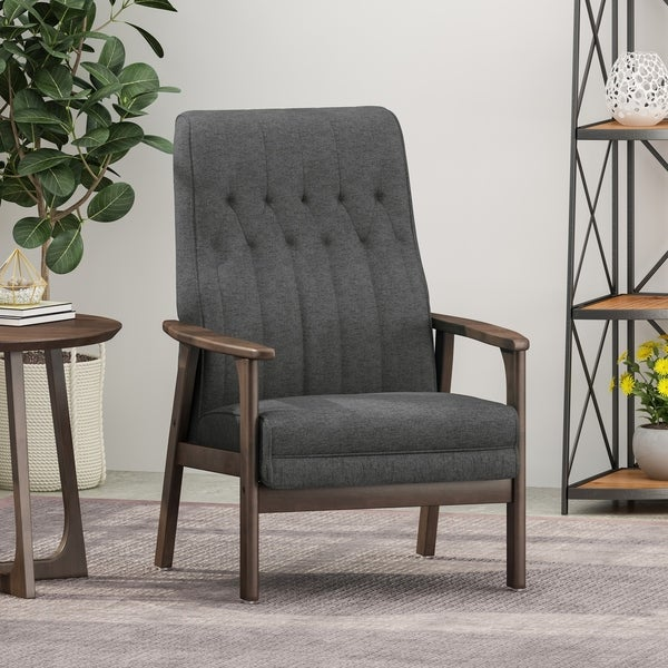 "Hoye Mid-Century Modern Accent Chair by Christopher Knight Home - 25.75"" W x 31.50"" D x 39.00"" H. Opens flyout."