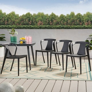 """Link to Orchid Outdoor Stacking Dining Chair (Set of 4) by Christopher Knight Home - 21.50"""" W x 19.50"""" D x 30.50"""" H Similar Items in Patio Dining Chairs"""