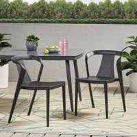 2 Christopher Knight Home Orchid Outdoor Stacking Dining Chair Deals