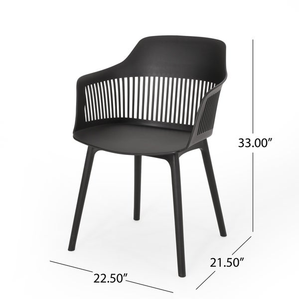 """Dahlia Outdoor Modern Dining Chair (Set of 2) by Christopher Knight Home - 22.50"""" W x 21.50"""" D x 33.00"""" H"""