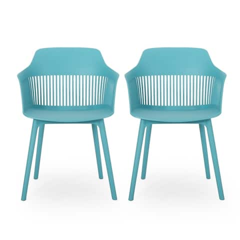 "Dahlia Outdoor Modern Dining Chair (Set of 2) by Christopher Knight Home - 22.50"" W x 21.50"" D x 33.00"" H"