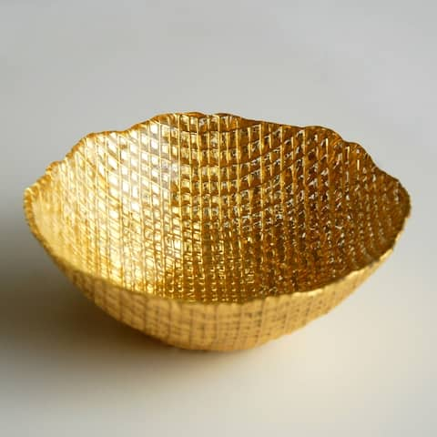 LUMIERE Gold Gilded Soup Bowl
