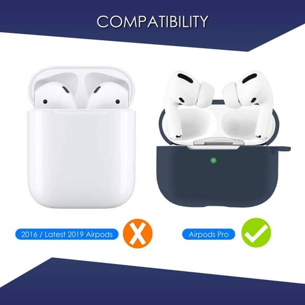 Shop 2 Pack For Airpods Pro Case Midnight Blue Gray Ultra Thin