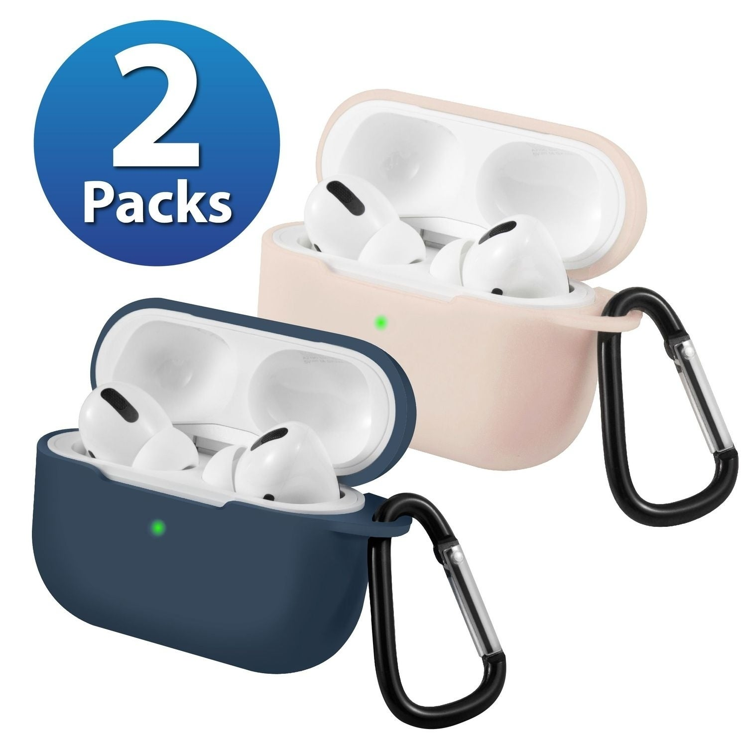 Shop 2 Pack For Airpods Pro Case Midnight Blue Pink Ultra Thin