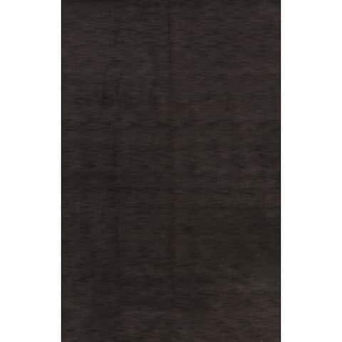 "Contemporary Charcoal Gabbeh Oriental Home Decor Area Rug Handmade - 6'4"" x 9'10"""