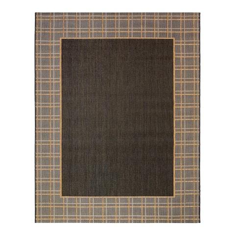 """Laura Ashley Logan Chestnut Black (5'3"""" x 7') Area Rug by Gertmenian - 5' x 8'/Surplus"""