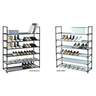 Studio 707 - 6 Tier Shoe Rack with Fabric Shelf