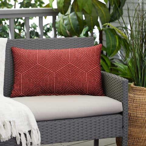 Ruby Graphic Indoor/Outdoor Knife Edge Lumbar Pillow by Havenside Home