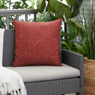 Link to Ruby Graphic Indoor/Outdoor Knife Edge Square Pillow by Havenside Home Similar Items in Outdoor Cushions & Pillows