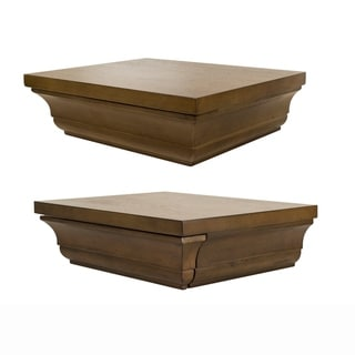 Set of Two Decorative Wall Shelves one with Hidden Concealment Compartment