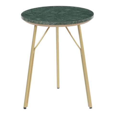 Aurelle Home Venova Modern Marble Side Table