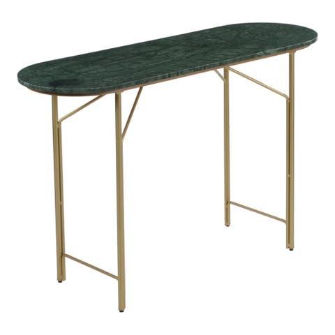 "Aurelle Home Venova Modern Marble Console Table - 30"" wide x 15"" deep"