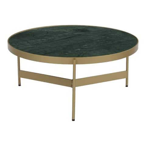 "Aurelle Home Venova Modern Marble Coffee Table - 31"" x 31"""